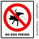 warning forbidden sign no dog... | Shutterstock . vector #1355137691