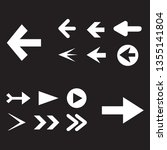 arrow icon set isolated on... | Shutterstock .eps vector #1355141804