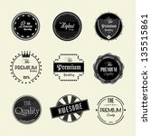 premium quality labels set | Shutterstock .eps vector #135515861