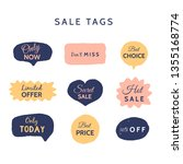 grunge sale badge collection.... | Shutterstock .eps vector #1355168774
