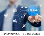 leasing business concept with... | Shutterstock . vector #1355170331