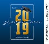 graduation greeting card. class ... | Shutterstock .eps vector #1355174954
