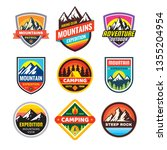 set of adventure outdoor... | Shutterstock .eps vector #1355204954