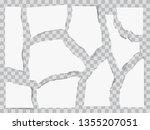 paper torn to pieces. scrap... | Shutterstock .eps vector #1355207051