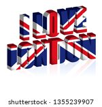 3d uk text or background of... | Shutterstock .eps vector #1355239907