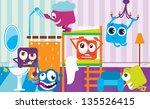 monsters house in an earlier... | Shutterstock .eps vector #135526415