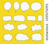 bubble thoght  bubble speech | Shutterstock .eps vector #1355276591