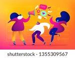 market segmentation and adverts ... | Shutterstock .eps vector #1355309567