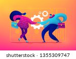 partnership and agreement ... | Shutterstock .eps vector #1355309747