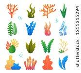 vector illustration of seaweeds ...   Shutterstock .eps vector #1355315294