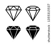 crystal stone line icons symbol ... | Shutterstock .eps vector #1355315537