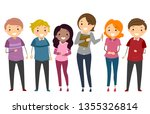 illustration of stickman adult... | Shutterstock .eps vector #1355326814