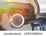 disc brake of the vehicle for... | Shutterstock . vector #1355338844