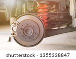 disc brake of the vehicle for... | Shutterstock . vector #1355338847