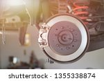 disc brake of the vehicle for... | Shutterstock . vector #1355338874