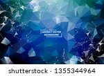 abstract blue polygonal space... | Shutterstock .eps vector #1355344964