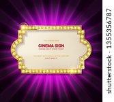 frame cinema. vector... | Shutterstock .eps vector #1355356787