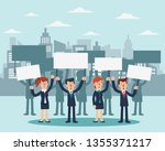 group of young business people...   Shutterstock .eps vector #1355371217