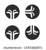 four elements flat icons  fire  ... | Shutterstock .eps vector #1355383871
