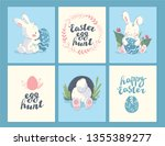 collection of easter holiday... | Shutterstock . vector #1355389277