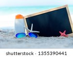 protective sunscreen or... | Shutterstock . vector #1355390441