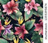 watercolor seamless pattern of... | Shutterstock . vector #1355395874