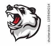 angry panda roar vector mascot... | Shutterstock .eps vector #1355404214