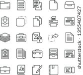 thin line vector icon set  ... | Shutterstock .eps vector #1355407427
