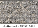 gabion palisade  texture | Shutterstock . vector #1355411441