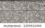 gabion palisade  texture | Shutterstock . vector #1355411444