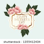 happy mothers day victorian... | Shutterstock .eps vector #1355412434