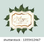 happy mothers day victorian... | Shutterstock .eps vector #1355412467