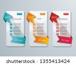 number option banners design ...
