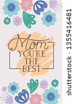 happy mothers day card with...   Shutterstock .eps vector #1355416481