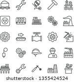thin line vector icon set  ... | Shutterstock .eps vector #1355424524