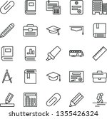 thin line vector icon set  ... | Shutterstock .eps vector #1355426324