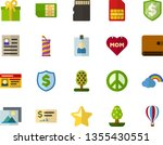 color flat icon set   pacific... | Shutterstock .eps vector #1355430551