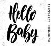hello baby. lettering phrase... | Shutterstock .eps vector #1355432561