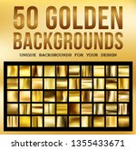 50 unique gold backgrounds....   Shutterstock .eps vector #1355433671