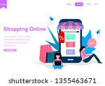 web page template for shopping...   Shutterstock .eps vector #1355463671