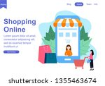 web page template for shopping...   Shutterstock .eps vector #1355463674