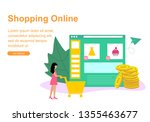 web page template for shopping...   Shutterstock .eps vector #1355463677