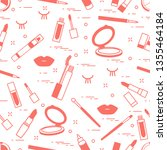 vector seamless pattern with... | Shutterstock .eps vector #1355464184