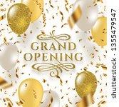 grand opening   glitter gold...   Shutterstock .eps vector #1355479547