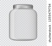 glass jar isolated vector...   Shutterstock .eps vector #1355479754