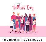 happy mothers day card... | Shutterstock .eps vector #1355483831