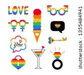 pride symbols set for lgbt...   Shutterstock . vector #1355484941