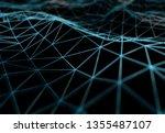 abstract digital network... | Shutterstock . vector #1355487107