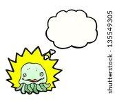 cartoon jellyfish | Shutterstock . vector #135549305