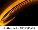 glowing shiny curve light trail ... | Shutterstock . vector #1355506604